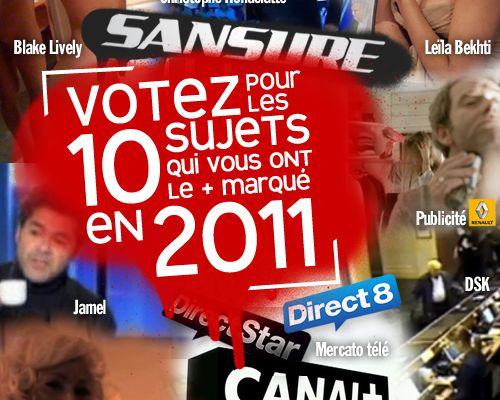 Votez pour les 10 sujets qui vous ont le plus marqué en 2011 !
