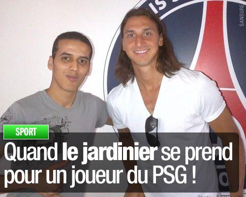 Quand le jardinier se prend pour un joueur du PSG !