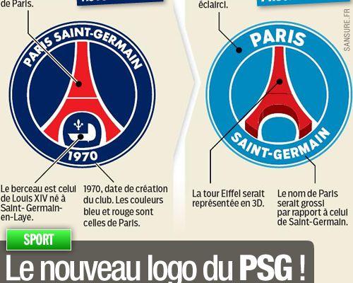 Le nouveau logo du PSG !