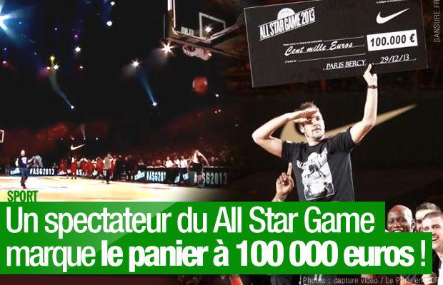 Un spectateur du All Star Game marque le panier à 100 000 euros ! #ASG2013