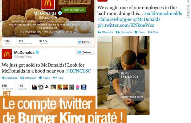 Le compte twitter de Burger King piraté !