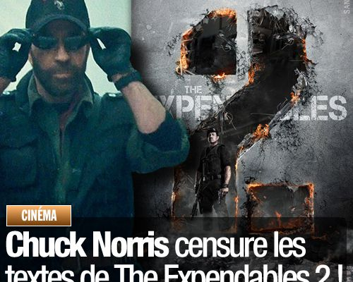 Chuck Norris censure les textes de The Expendables 2 !