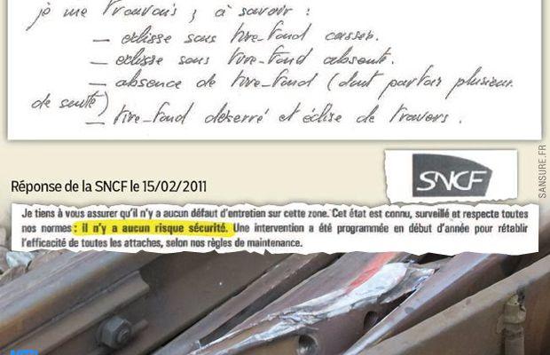 Des témoignages accusent la SNCF du mauvais entretien de ses voies. #Bretigny