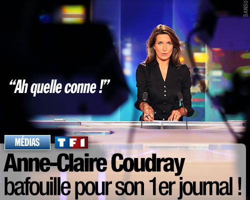 Anne-Claire Coudray bafouille pour son 1er journal !