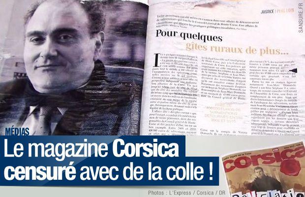 Le magazine Corsica censuré avec de la colle !