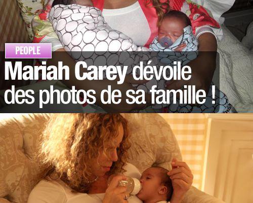 Mariah Carey dévoile des photos de sa famille !