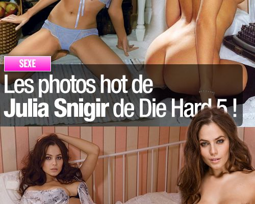 Les photos hot de Julia Snigir de Die Hard 5 !