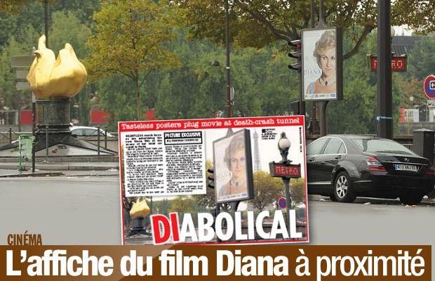 L'affiche du film Diana à proximité du Pont de l'Alma a fait polémique ! #Diana