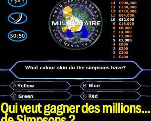 Qui veut gagner des millions... de Simpsons ?