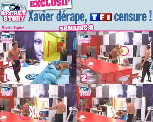 EXCLUSIF / Secret Story : Xavier dérape, TF1 censure !