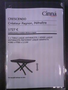 Table Crescendo de CINNA