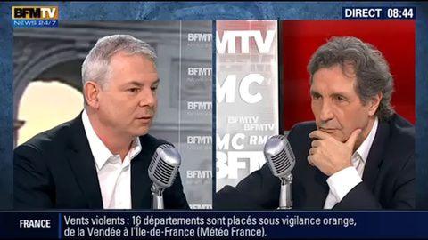 Thierry Lepaon , secrétaire général de la CGT, sur RMC-BFM TV.