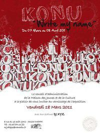 "Vernissage Konu Konu ""write my name"" le 18 mars 2011"