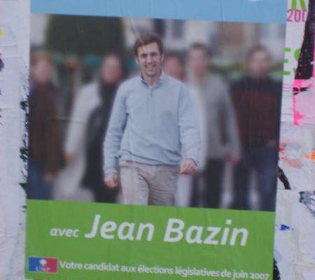 Dieppe : premier collage de Jean Bazin, candidat UMP aux législatives !