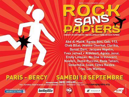 Solidaires pour Rock sans papiers, le 18 septembre 2010 à Bercy