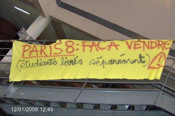 Université Paris 8, St-Denis : vente des locaux et des étudiants !