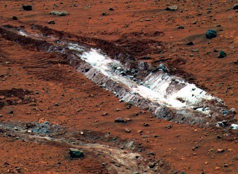 Silice pratiquement pure sur Mars