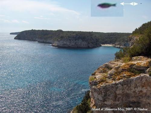 UFO sur les iles Menorca,espagne.