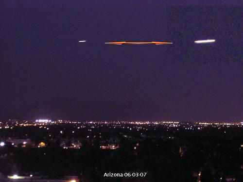 UFO dans une webcam de l'arizona