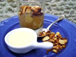 Compote Pomme Rhubarbe, Façon Crumble