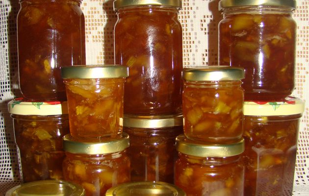 CONFITURE PECHES BLANCHES ET ANANAS