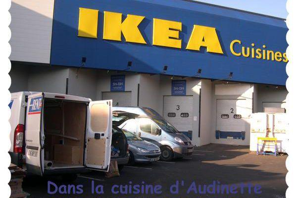 Cuisine IKEA : étape n°2 - le retrait des marchandises