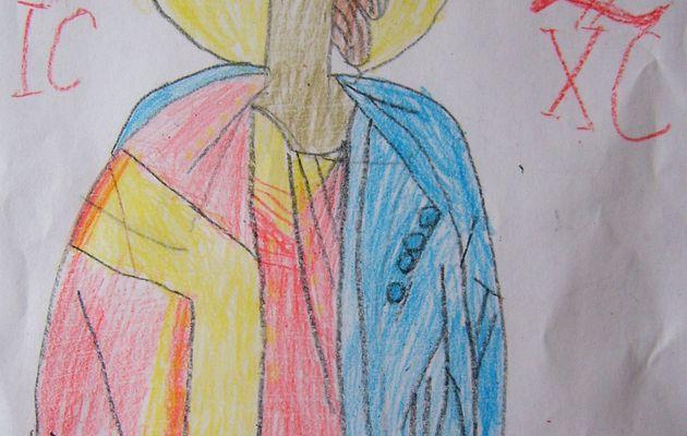 Desen religios - Mântuitorul Iisus Hristos