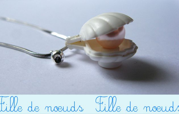 Collier petite sirenne : coquillage et sa perle