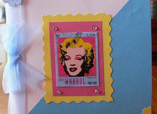 Carte pop-art Andy Warhol (carte reçue)
