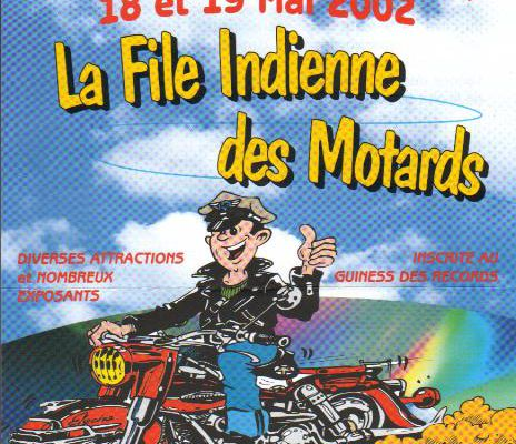La file Indienne de motos...