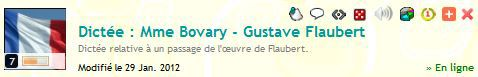 Quizz 152 : Dictée. Mme Bovary - Gustave Flaubert