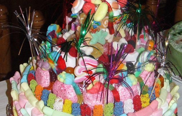 Pièce montée de bonbons....