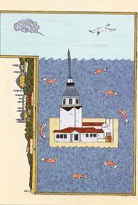 La tour de Léandre, seule au milieux des eaux bleues du bosphore
