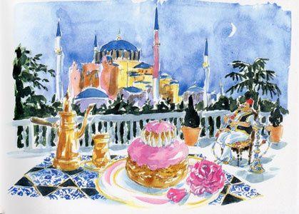 Des macarons de couleur, LADUREE, İstanbul et la gourmande Nina..