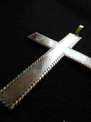 Croix pectorale en argent