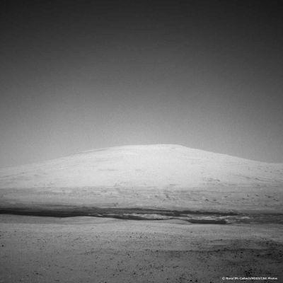 Photo du mont Sharp sur Mars.