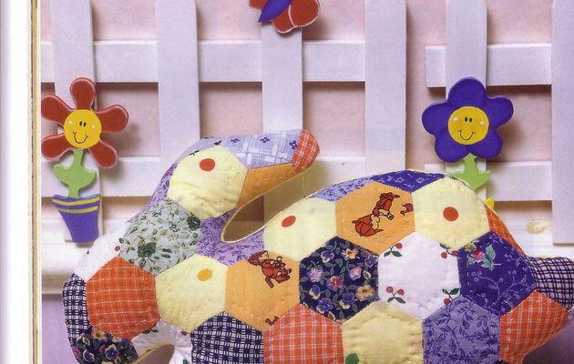 Doudou en patchwork
