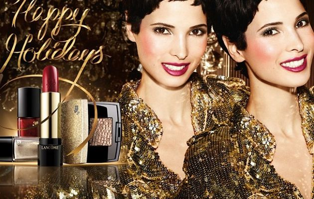 Lancôme: Hanaa Ben Abdesslem pour sa collection maquillage de Noël.