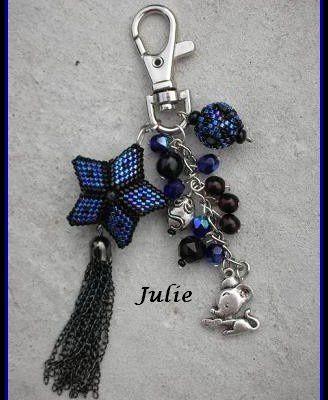 Bijou de sac Etoile bleu nuit