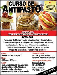 CURSO DE CONSERVACIÓN DE ALIMENTOS (Antipasto) en Caracas-Venezuela