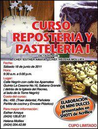 CURSO DE REPOSTERIA Y PASTELERIA I