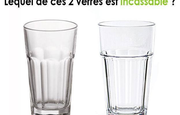- Saurez-vous faire la différence entre ces 2 verres ?