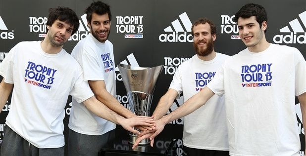 Final Four: Fans get chance to see Euroleague trophy up close as Trophy Tour 2013 starts