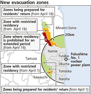 New evacuation zones