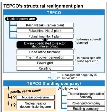 TEPCO planning holding company