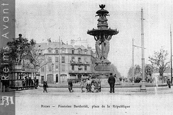 La place de la République et la fontaine Bartholdi