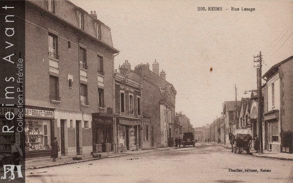 Rue Lesage à l'angle de la rue de Brimontel