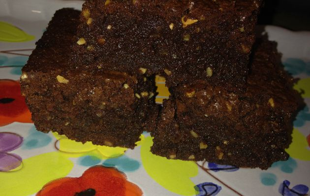 Brownies fondants au pralin.