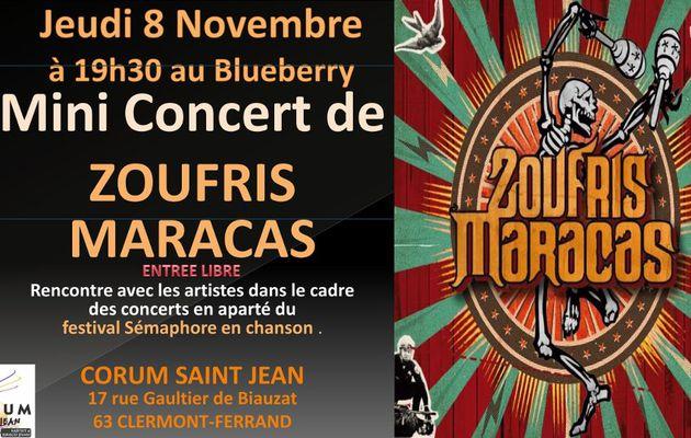 rencontre avec ZOUFRIS MARACAS le jeudi 8nov à 19 h 30 - Clermont-ferrand