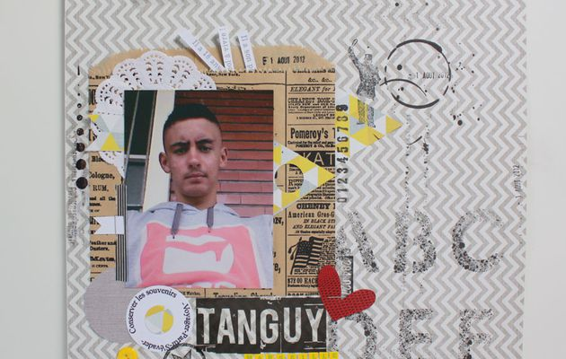 """PAGE """"Tanguy 18 ans"""" AVEC I {LOWE} SCRAP n°3"""